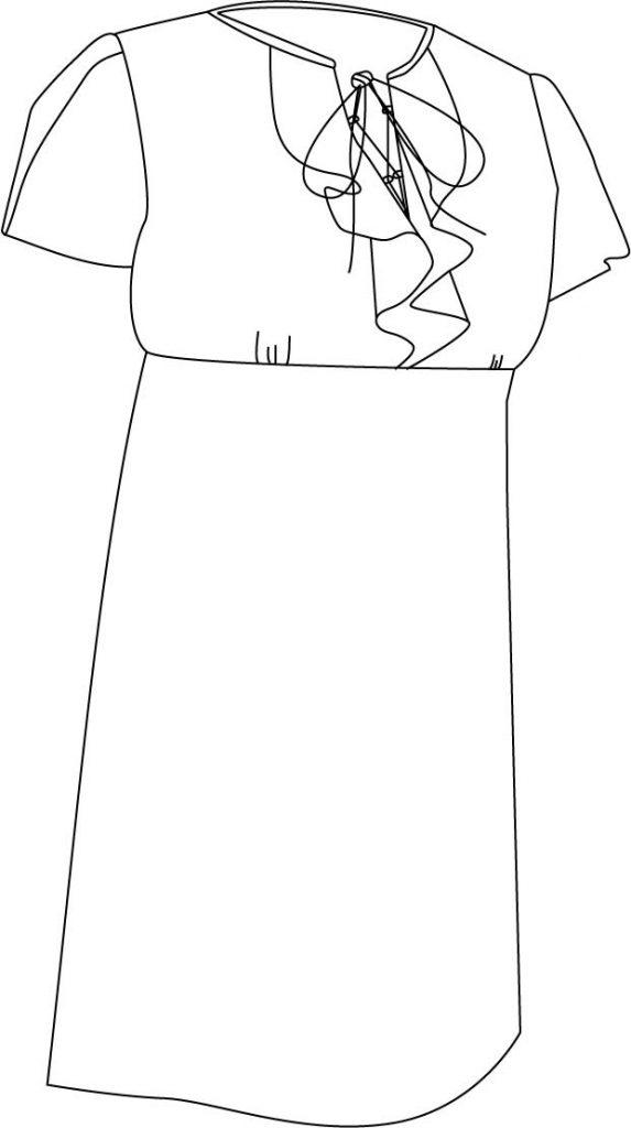 Patron de robe corina dessinée