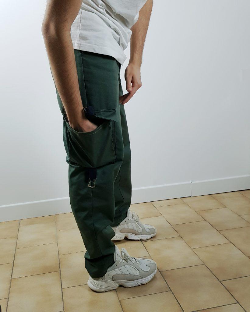 cargo pant kaki, poches