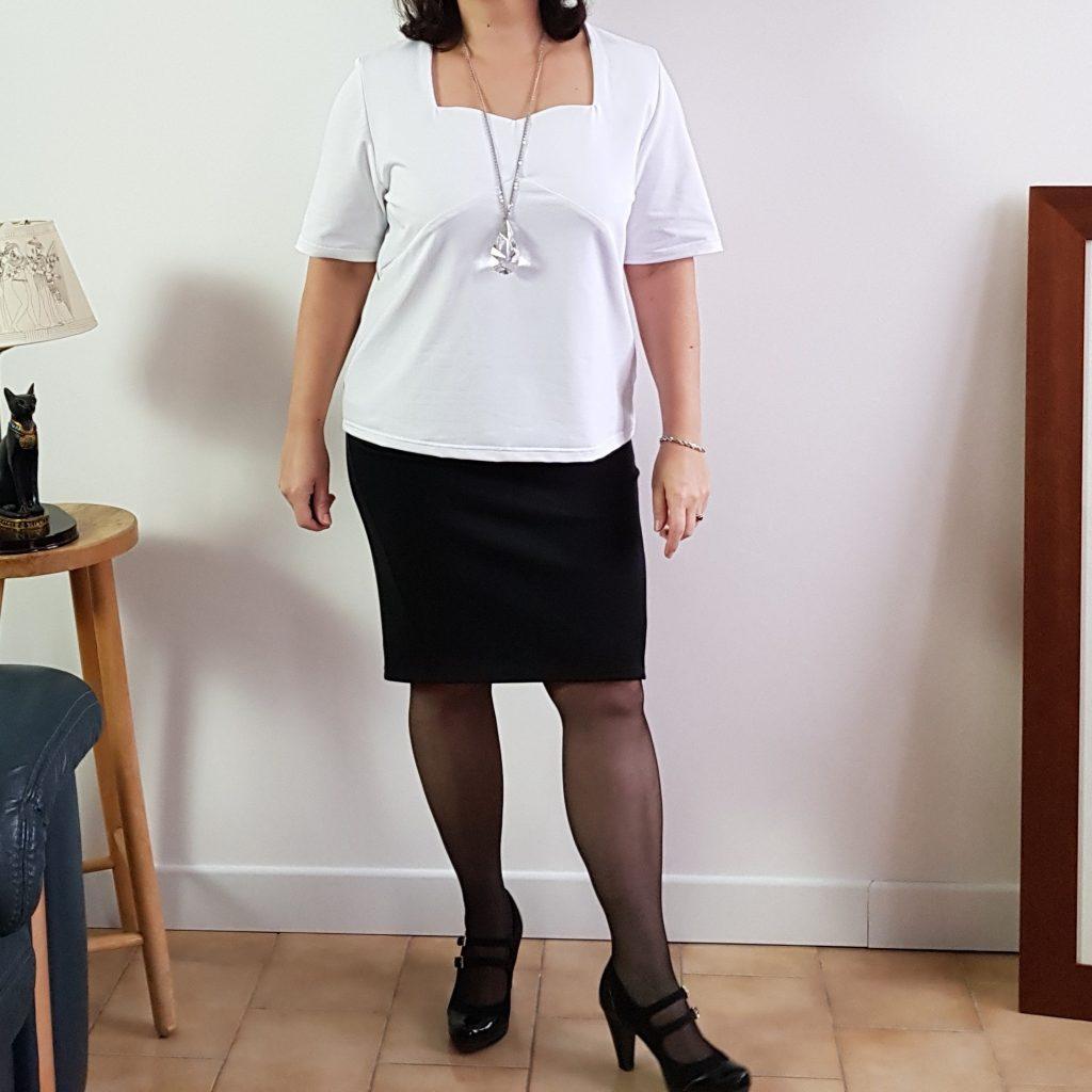 Photo blouse eliette blanche devant doublé