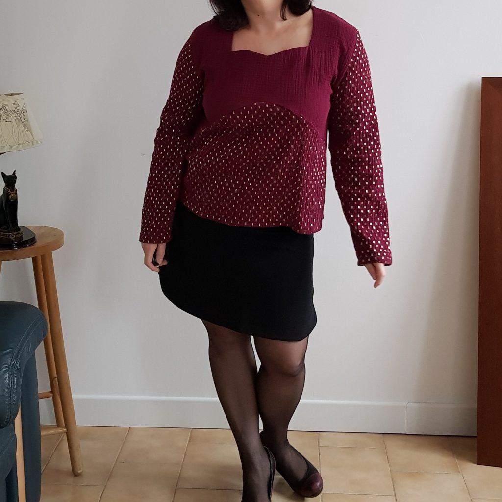 photo blouse eliette bordeau