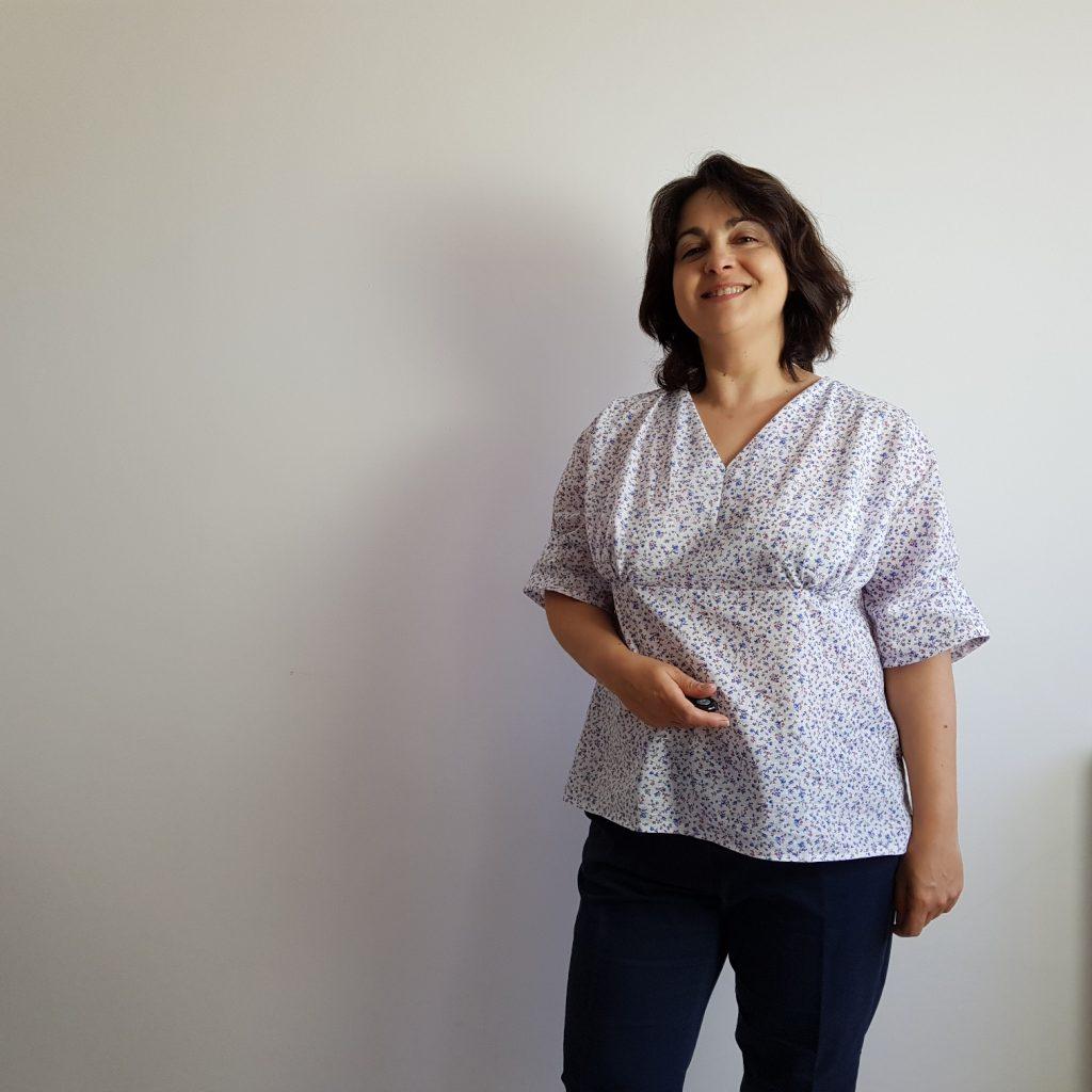 patron couture blouse valeria de face
