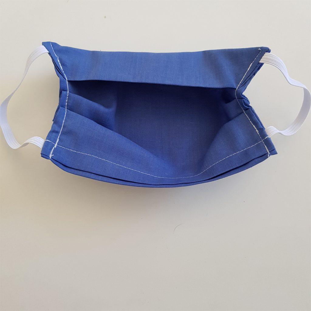 masque en tissu vue de l'intérieur