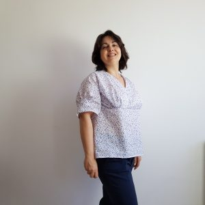 Patron couture blouse velria froncee