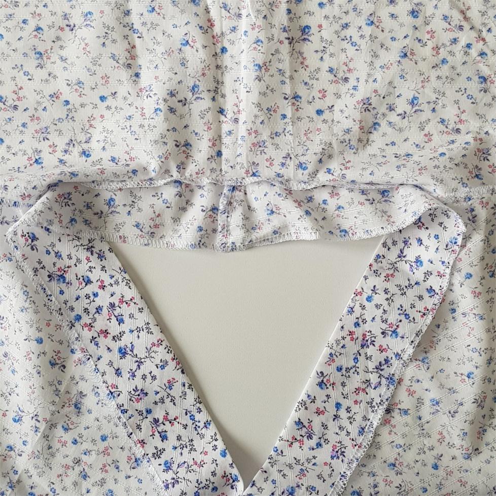 septième étape pour coudre la blouse Valeria