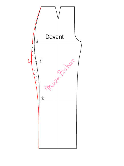 modifications dans les pantalons défauts du haut des cuisses